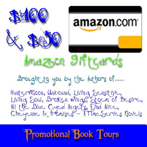 AmazonGroupGiveawayJuly6 Amazon $100 & $50 GC Giveaway Promo Book Tours