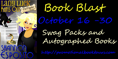 Lady Luck Runs Out badge Lady Luck Runs Out Book Blast: Win Swag Packs and Autographed Books