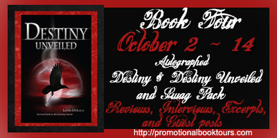 Destiny Unveiled Book Tour: Win a Signed Copy and Awesome Goodies