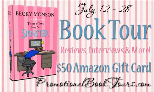 spinsterbaner Thirty-Two Going on Spinster Promo Tour: $50 Amazon GC Giveaway
