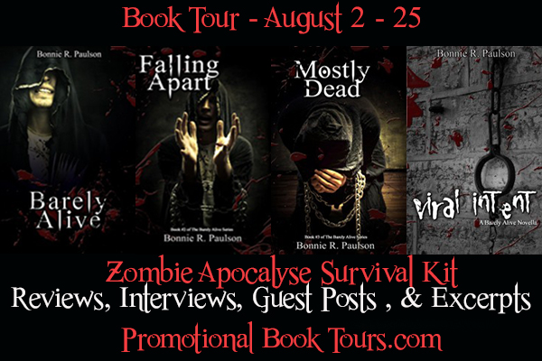 BarelyAliveBanner Barely Alive Series Book Tour: Zombie Apocalypse Survival Kit Giveaway