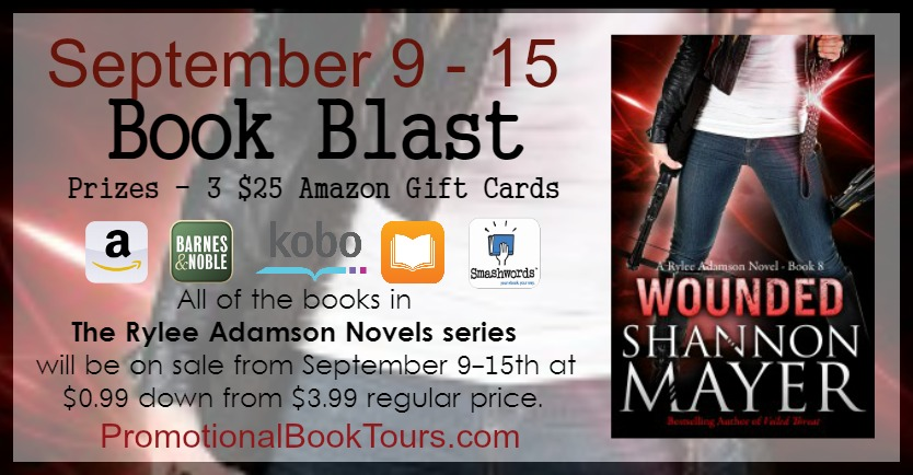 Blast & Giveaway for Wounded by Shannon Mayer | Book Liaison