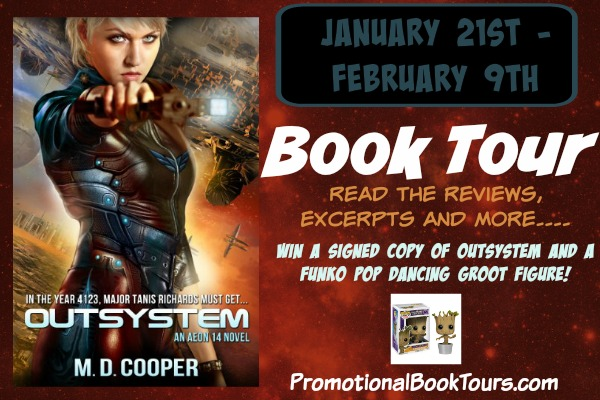 Outsystem by M.D Cooper Promo Blast: FUNKO Pop Groot & Signed Copy Giveaway