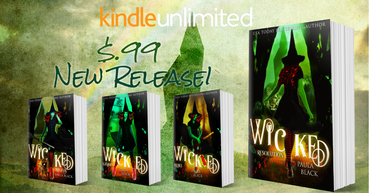 BookBrushImage 2019 6 23 19 2212 New Release! Wicked Resolution (Wicked Origins Book 4) is only $0.99!